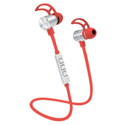 POM GEAR Pro2GO P-One Wireless Bluetooth Noise-Cancelling Earbuds (Red)