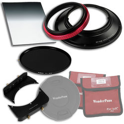 "FotodioX WonderPana FreeArc Core Unit Kit for Rokinon/Samyang 14mm Lens with 145mm Solid Neutral Density 1.2 and 6.6 x 8.5"" Soft-Edge Graduated Neutral Density 0.6 Filters"