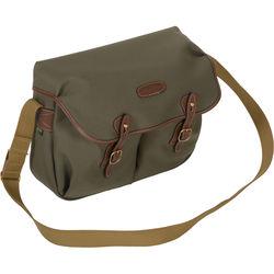 Billingham Hadley Shoulder Bag, Large (Sage with Chocolate Leather Trim)
