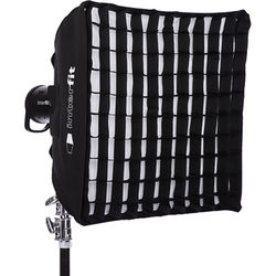 "Interfit Heat-Resistant Square Softbox with Grid (24 x 24"")"