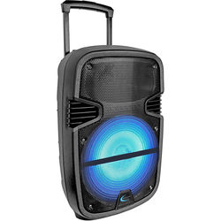 "Technical Pro Rechargeable 12"" LED Active Loudspeaker with Carry Handle and Wheels"