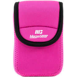 MegaGear Ultra-light Neoprene Camera Case with Carabiner for Canon PowerShot ELPH 190 IS, ELPH 170 IS, and ELPH 160 Cameras (Hot-Pink)