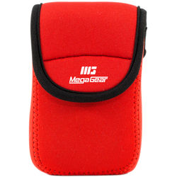 MegaGear Ultra-light Neoprene Camera Case with Carabiner for Canon PowerShot ELPH 190 IS, ELPH 170 IS, and ELPH 160 Cameras (Red)