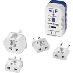 Travel Smart by Conair 2-Outlet 1875W Converter Set with USB Port and 4 Adapter Plugs