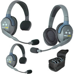 Eartec UL321 UltraLITE 3-Person Headset System with Batteries, Charger & Case
