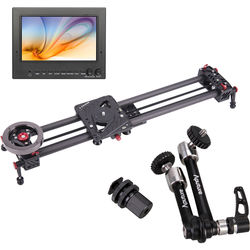"FeelWorld 7"" 3G-SDI/HDMI Monitor with Carbon Fiber Shark Slider & Magic Arm Kit"