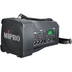 MIPRO MA-100DB Dual-Channel Personal Wireless PA System (6C, Black)