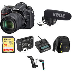 Nikon D7100 DSLR Camera Video Production Kit with 18-105mm f/3.5-5.6 Lens