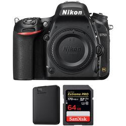 Nikon D750 DSLR Camera Body with Storage Kit