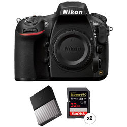 Nikon D810 DSLR Camera Body with Storage Kit