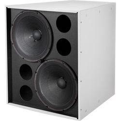 """Electro-Voice EVF2151D Dual 15"""" Front-Loaded Bass Element System (White, with Fiberglass)"""