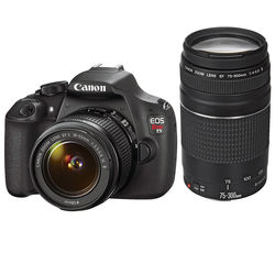 Canon EOS Rebel T5 DSLR Camera with 18-55mm and 75-300mm Lenses Kit