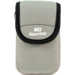 MegaGear Ultra-light Neoprene Camera Case with Carabiner for Olympus Stylus Tough TG-870 and TG-860 Cameras (Gray)