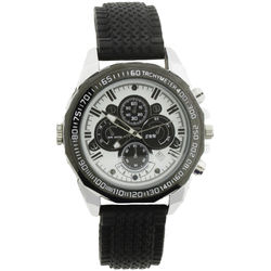 BrickHouse Security Wristwatch with 1080p Covert Camera (Silver)
