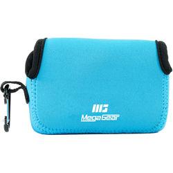 MegaGear Ultra-light Neoprene Camera Case with Carabiner for Fujifilm FinePix XP90 Camera (Blue)