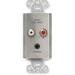 RDL Active Single-Pair Sender Module with Mini-Jack & Stereo RCA Input (Silver)