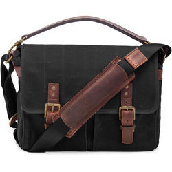 ONA Prince Street Camera Messenger Bag (Black, Waxed Canvas)
