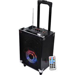 """Technical Pro WASP680 8"""" Portable Bluetooth PA System with Wireless Handheld Microphone"""