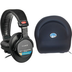 Sony MDR-7506 Pro Folding Headphones with Carry Case Kit