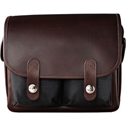 Oberwerth Wetzlar Small Camera Bag (Black/Dark Brown)