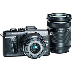 Olympus PEN E-PL7 Mirrorless Micro Four Thirds Digital Camera with 14-42mm f/3.5-5.6 II R Lens and 40-150mm f/4.0-5.6 Lens (Black)