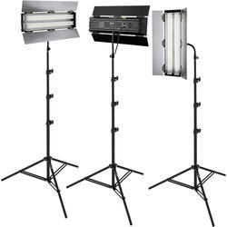 Angler Steady Cool 2-Lamp Fluorescent Fixture 3-Light Kit