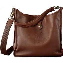 Oberwerth Kate Multi-Functional Nougat Leather Ladies Bag (Light Brown, Gold-Plated Fastenings & Buttons)