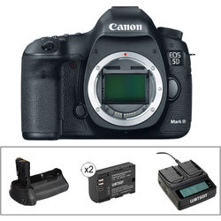 Canon EOS 5D Mark III DSLR Camera Body with Accessory Kit