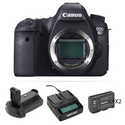 Canon EOS 6D DSLR Camera Body with Accessory Kit