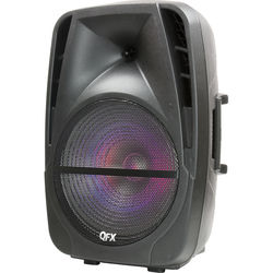 """QFX PBX-BF15 Portable Battery-Powered 15"""" Party Speaker with Bluetooth/USB/SD/FM"""