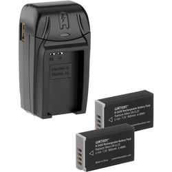 Watson Compact AC/DC Charger Kit with 2 EN-EL22 Lithium-Ion Battery Packs