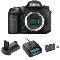 Canon EOS 7D Mark II DSLR Camera Body with Accessory Kit