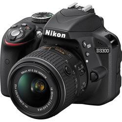 Nikon D3300 DSLR Camera with 18-55mm Lens (Black, Refurbished)