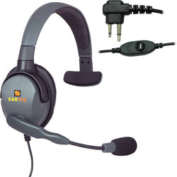Eartec Headset with Max 4G Single Connector & Inline PTT for Motorola 2-Pin Radios