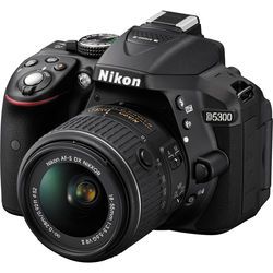 Nikon D5300 DSLR Camera with 18-55mm Lens (Black, Refurbished)