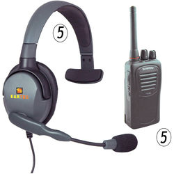 Eartec 5-User SC-1000 Radio System with Max 4G Single Inline PTT