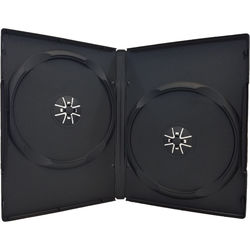 Inland Products 14mm 2-Disc Capacity DVD Case (Black, 10-Pack)