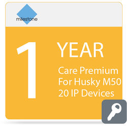 Milestone Care Premium for Husky M50 (1-Year, 20 IP Devices)