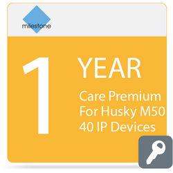 Milestone Care Premium for Husky M50 (1-Year, 40 IP Devices)