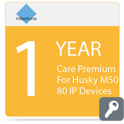 Milestone Care Premium for Husky M50 (1-Year, 80 IP Devices)