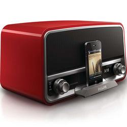 Philips Original Radio with 30-Pin iPod/iPhone Dock (Red)