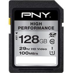 PNY Technologies 128GB High Performance UHS-I SDXC Memory Card (Class 10)