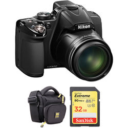 Nikon COOLPIX P530 Digital Camera (Black, Refurbished) Basic Kit