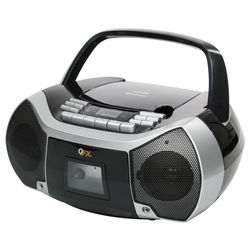 QFX Bluetooth Boombox with Cassette Recorder