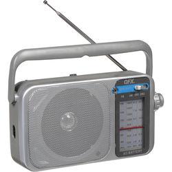 QFX R-24 Portable AM/FM/SW1/SW2 Radio (Silver)
