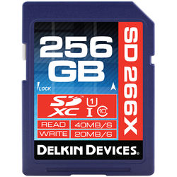 Delkin Devices 256GB 266X SDXC Memory Card (Class 10)