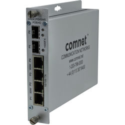 COMNET 6-Port Gigabit Ethernet Self-Managed Switch with 50W of PoE+ Power (High Output)