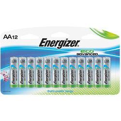 Energizer EcoAdvanced AA Alkaline Batteries (2750mAh, 12-Pack)