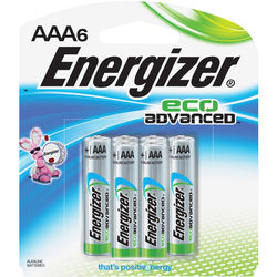 Energizer EcoAdvanced AAA Batteries (6-Pack)