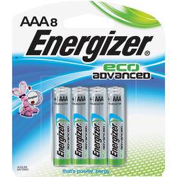 Energizer EcoAdvanced AAA Alkaline Batteries (1200mAh, 8-Pack)